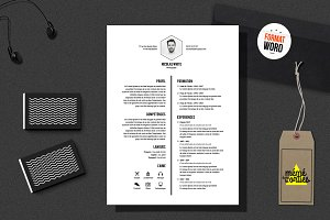 White - Resume template Word