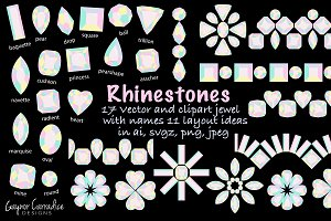 Jewels vector & clipart set