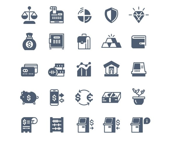 Banking Finance Money Cash Icons
