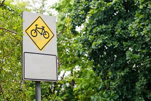 Bicycle sign board