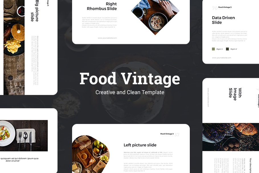 Food Vintage Presentation Template ~ Keynote Templates ~ Creative Market