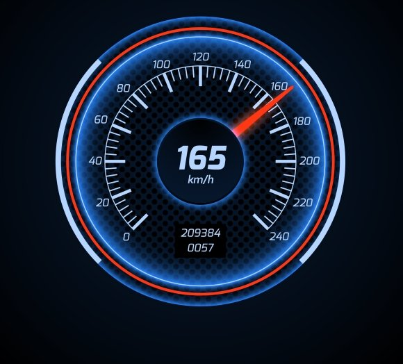 Car Speedometer Interface