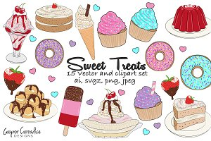 Sweet treats vector & clipart set