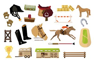 Vector Horse Sport Icons