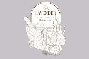 Lavander Health Products Set