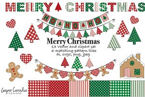 Christmas vector set with clipart