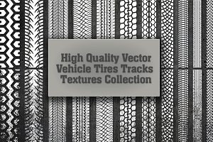 Big Vector Tire Tracks Set