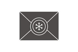 Letter to Santa Claus icon. Vector