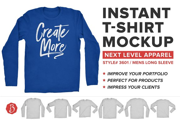 Download Next Level Long Sleeve Shirt Mockup