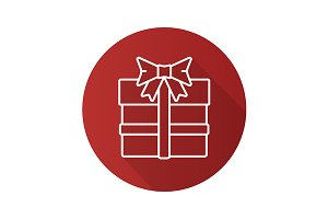 Gift box icon. Vector