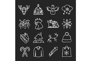 Christmas and New Year icon. Vector