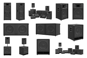 Speakers audio loud system set