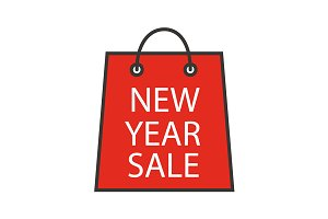 New Year sale icon. Vector
