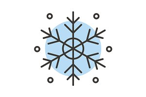 Snowflake color icon. Vector