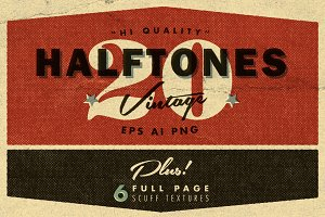 20 Beaten Halftone Textures