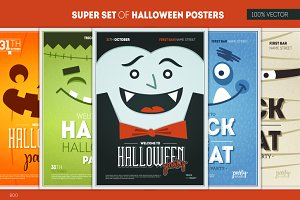 SUPER SET OF HALLOWEEN POSTERS