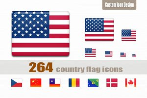 All-in-one Country Flag Icon Set