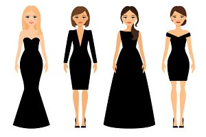 Women in black dresses