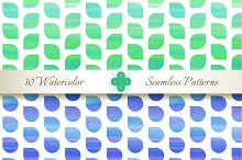 Seamless Watercolor Patterns #2