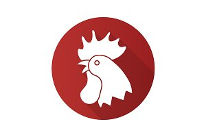 Rooster icon. Vector
