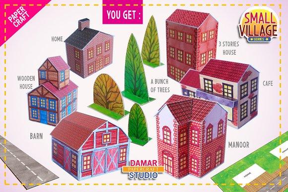 PAPERCRAFT SET - BUILD YOUR VILLAGE