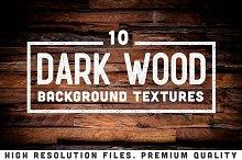 10 Dark Wood Background Textures