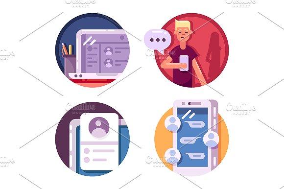 Communication internet icons