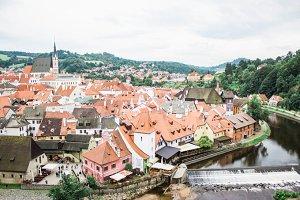 Český Krumlov in Czech Republic