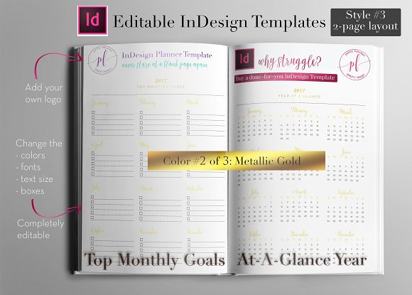 Annual Calendar   InDesign Template ~ Stationery Templates ...