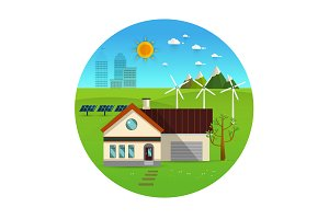 Green energy an eco friendly house