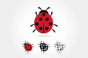 Ladybug vector icon cartoon