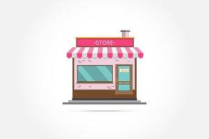 Store facade. Vector illustration