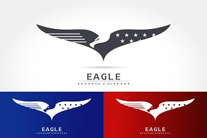 Graceful logo eagle silhouette