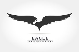Graceful eagle silhouette