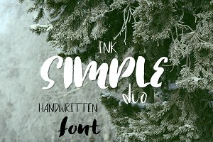 Simple ink font duo