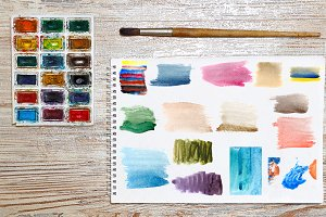 Watercolor abstract background 15JPG