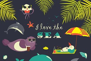 Sea animals on resort