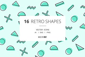 90s inspired Retro Shape Icons