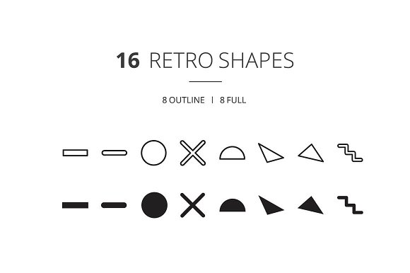 90s inspired Retro Shape Icons  in Icons - product preview 2