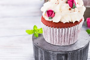 Delicious red velvet cupcakes