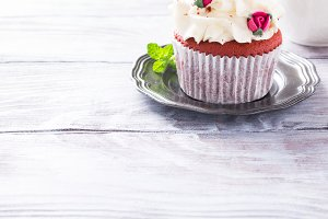 Beautiful red velvet cupcake