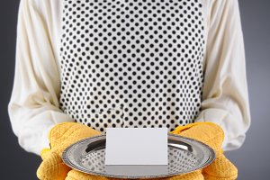 Homemaker Holding Tray Blank Card