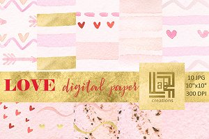 Love digital  watercolor paper