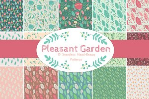 Pleasant Garden 15 Seamless Patterns