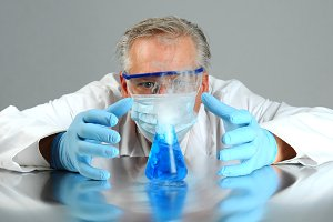 Mad Scientist Observes Experiment