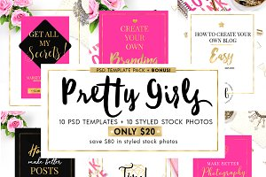 SALE $10 Pretty Girls Blog Templates