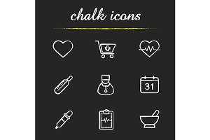 Medical. 9 icons. Vector