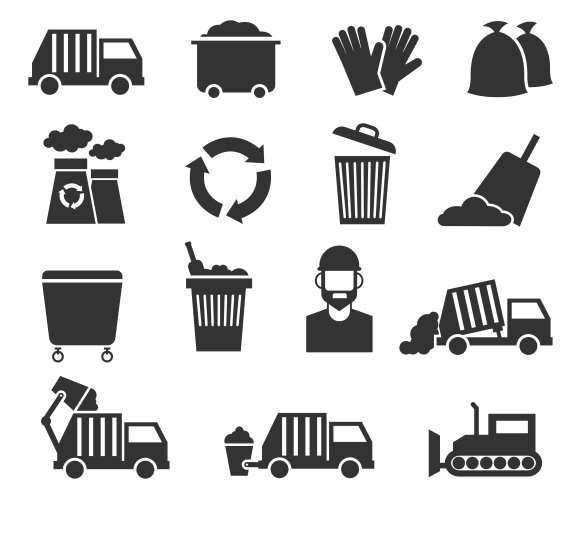 Trash Recycle Garbage Icons