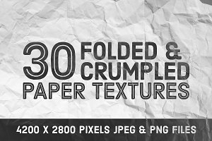 30 Folded & Crumpled Paper Textures