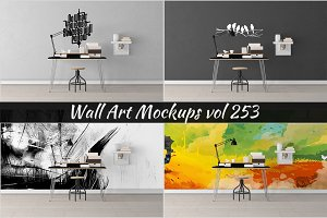 Wall Mockup - Sticker Mockup Vol 253
